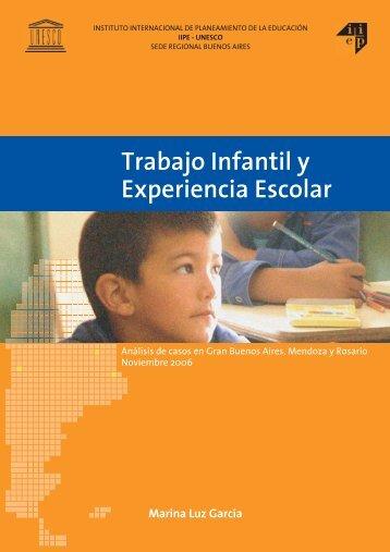 Trabajo Infantil y Experiencia Escolar - ADASU . Asociación de ...