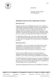 Väg 73 uttalande 030409 - Nynäshamns kommun