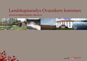 Landskapsanalys Ovanåkers kommun