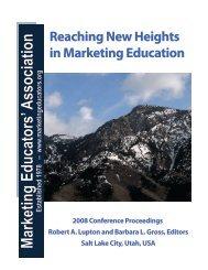 2008 - Marketing Educators' Association