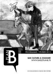 BAR CULTUREL & SOLIDAIRE www.barlePlanb.fr ProGramme ...