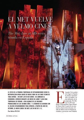 EL MET VUELVE A YELMO CINES - Revistas culturales