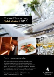 Se hotellets selskabskort her - Comwell Sønderborg