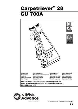 Carpetriever™ 28 GU 700A - Advance