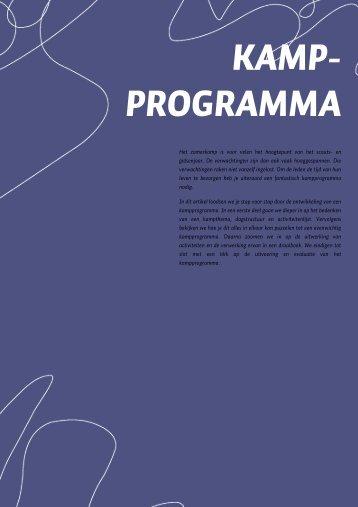 Kampprogramma - FOS Open Scouting
