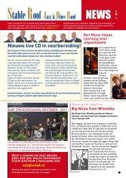 nieuwsbrief oktober 2011 - Stable Roof Jazz & Blues Band