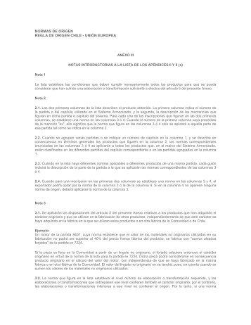NORMAS DE ORIGEN REGLA DE ORIGEN CHILE - UNIÓN ... - Sofofa