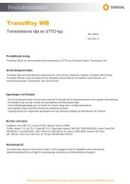 TransWay WB - Statoil Fuel & Retail