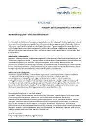 Der Ernährungsplan – effektiv und individuell (PDF) - metabolic ...