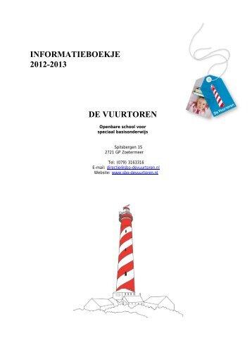 Informatieboekje 2001-2002 - De Vuurtoren