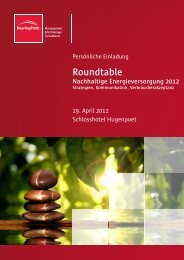 Roundtable Nachhaltige Energieversorgung 2012 - BearingPoint