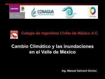 Cambio Climático y las inundaciones en el Valle de México