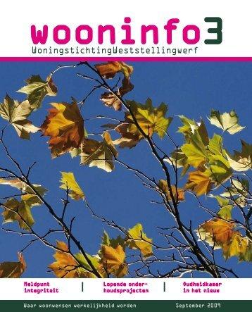Wooninfo 3 2009 - Woningstichting Weststellingwerf