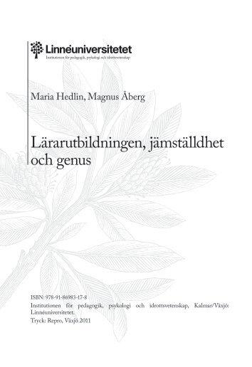 """""""Lärarutbildningen, jämställdhet och genus"""" (pdf)"""