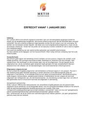 Erfrecht 2013 - Metis Notarissen