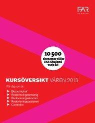 KURSÖVERSIKT VÅREN 2013 - FAR Akademi