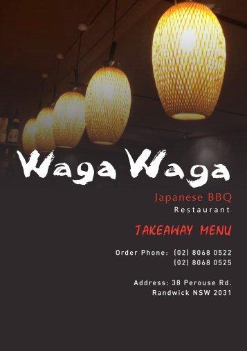 Download Take Away Menu.pdf - Waga Waga Japanese BBQ