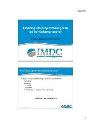 Ervaring als projectmanager in de consultancy sector