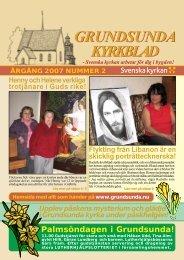 Församlingsblad 2007 - NR 2 - Grundsunda församling