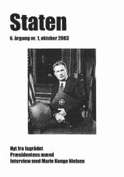 Oktober 2003, årgang 6, nr. 1 - STATEN
