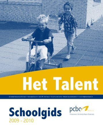 Schoolgids Het Talent