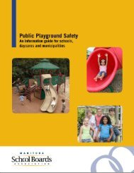 Playground Safety Manual. - Manitoba School Boards Association