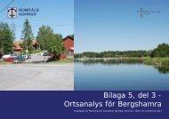 Bilaga 5, del 3 - Ortsanalys för Bergshamra - Norrtälje kommun