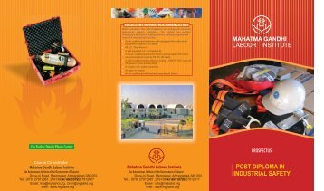 post diploma in industrial safety - Mahatma Gandhi Labour Institute