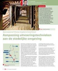 Brussel: aanpassing uitvoeringstechnieken aan ... - GeoTechniek