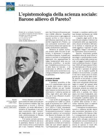 Enrico Barone è una delle fi- gure eclettiche della storia del pen ...