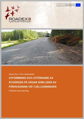 utformning och utförande av åtgärder på vägar som lider ... - ROADEX