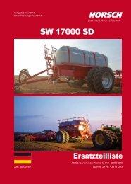 ET - LISTE Horsch SW 17000 SD 2012 - Horsch Maschinen GmbH