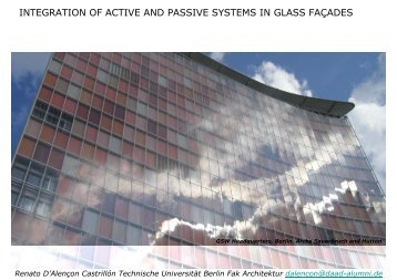 integration of active and passive systems in glass façades