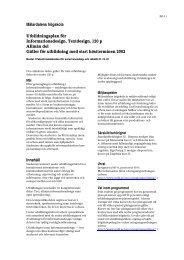 Mälardalens högskola Utbildningsplan för Informationsdesign ...