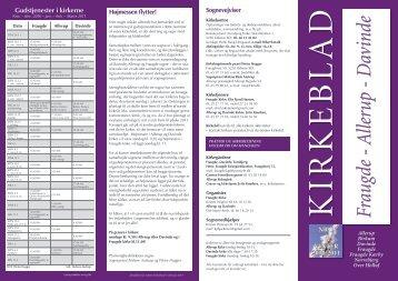 Kirkeblad nr. 1 - Fraugde Allerup og Davinde kirker