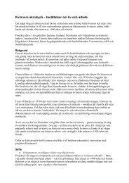 Utförlig beskrivning av projektet - Till hela sverige