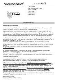nieuwsbrief 3 - Schakel