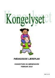 Pædagogisk Læreplan for 2010 - Slagelse Kommune