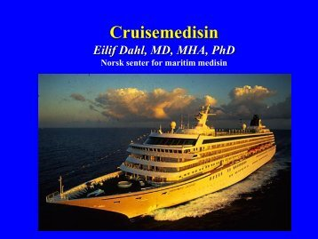 CruiseMedisinNCMM2013-05-30 - Helse Bergen