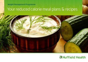 Reduced calorie meal plans recipes guide - Nuffield Health