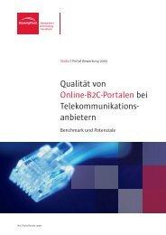 Qualität von Online-B2C-Portalen bei ... - BearingPoint