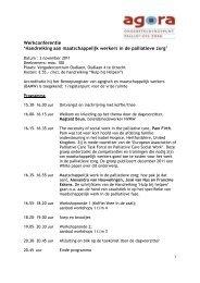 Werkconferentie 'Handreiking aan maatschappelijk werkers in de ...