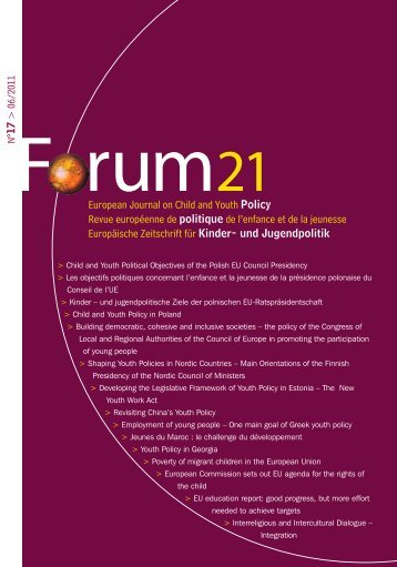 European Journal on Child and Youth Policy Revue européenne de ...