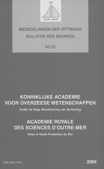 (2004) n°2 - Royal Academy for Overseas Sciences