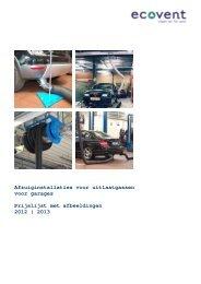 Afzuiginstallaties voor uitlaatgassen voor garages Prijslijst ... - ecovent