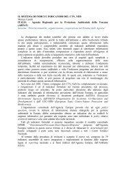 IL SISTEMA DI INDICI E INDICATORI DEL ... - ARPA Lombardia