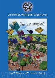 WW 2013 PRINT FILE - Listowel Writers