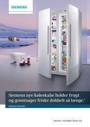 Siemens nye køleskabe holder frugt og grøntsager friske dobbelt så ...