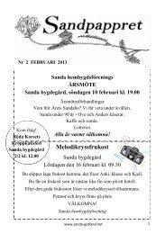 Februari 2013 - Sanda Hembygdsförening
