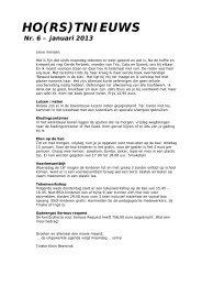 Horstnieuws Nr 6 Januari 2013 - De Arnhorst